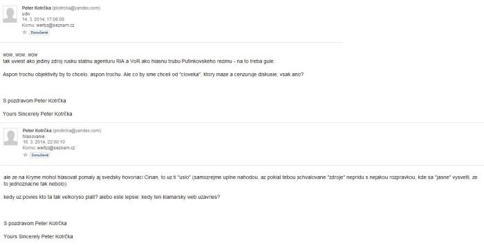 email od ktričky