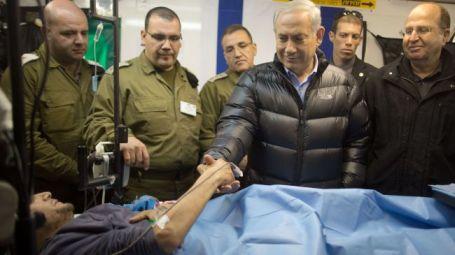 Izraelský premiér navštívil 18.února zraněné syrské militanty